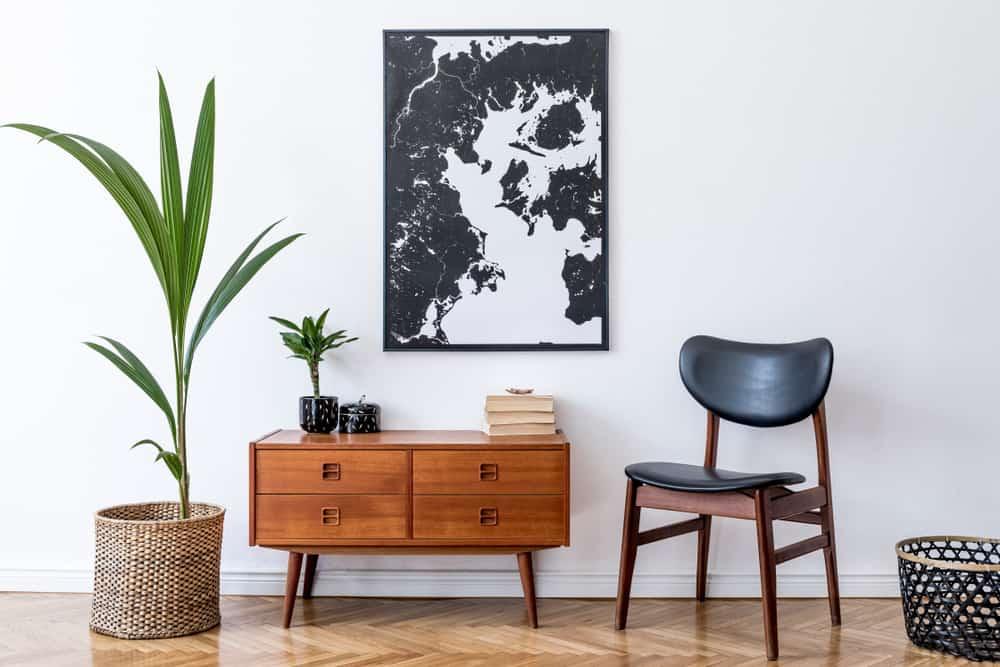 Stylish interior design of living room